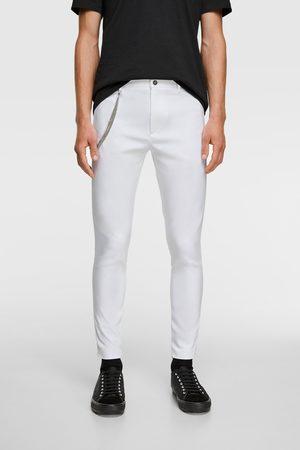 Zara Spodnie o mocno dopasowanym kroju z łańcuszkiem