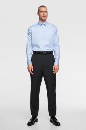 Zara Koszula z tkaniny strukturalnej premium quality