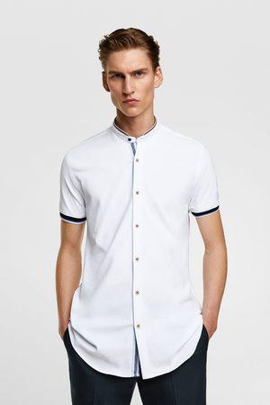 Zara Koszula z piki ze stójką