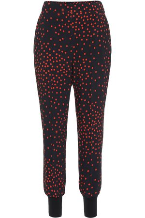 Stella McCartney Kobieta Rurki - Polka-dot stretch-crêpe skinny pants