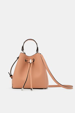 Zara Kobieta Torebki - Mini torebka typu worek z ćwiekami