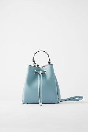 Zara Mini torebka typu worek z ćwiekami