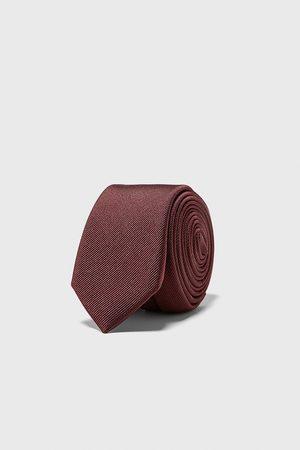 Zara Wąski krawat z tkaniny ottoman