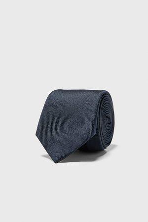 Zara Szeroki krawat z tkaniny ottoman