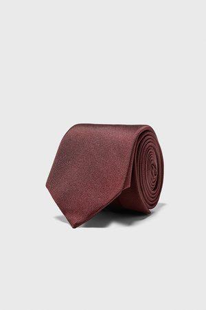 Zara Mężczyzna Krawaty - Szeroki krawat z tkaniny ottoman