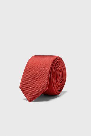 Zara Mężczyzna Krawaty - Wąski krawat z tkaniny ottoman