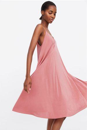 Zara Kobieta Sukienki - Sukienka w stylu bieliźnianym