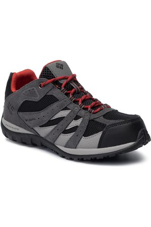 Columbia Chłopiec Buty trekkingowe - Trekkingi - Youth Redmond Waterproof BY2857 Black/Flame 012