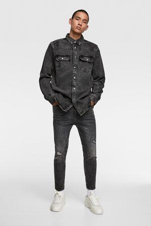 Zara Jeansy rurki o długości do połowy łydki