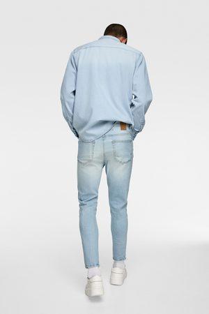 Zara Mężczyzna Rurki i Slim Fit - Jeansy rurki o długości do połowy łydki