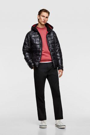 Zara Pikowana kurtka z łączonych tkanin