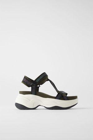 Zara Sandały sportowe na grubej podeszwie