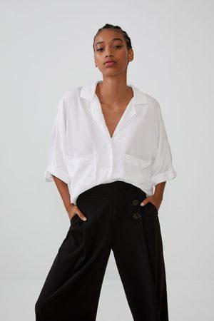 Zara Spodnie o krótszym kroju