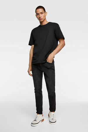 Zara Spodnie jeansowe rurki z kolekcji basic