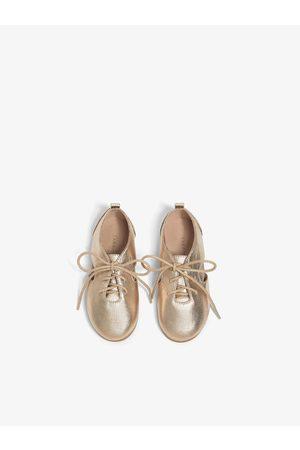 Zara Metalizowane buty derby