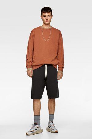 Zara Mężczyzna Bermudy - Bermudy typu jogger z kolekcji basic