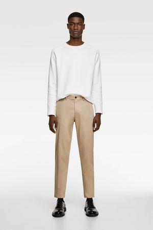 Zara Spodnie chinosy o krótszym kroju