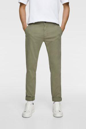 Zara Spodnie rurki typu chinosy