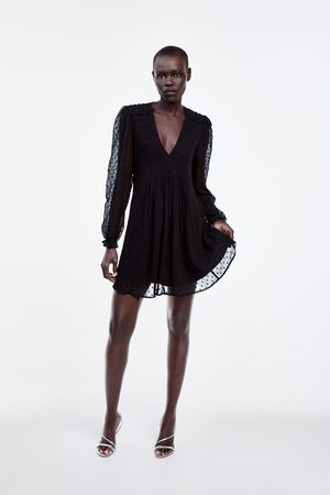 Zara Sukienka mini z tkaniny plumeti