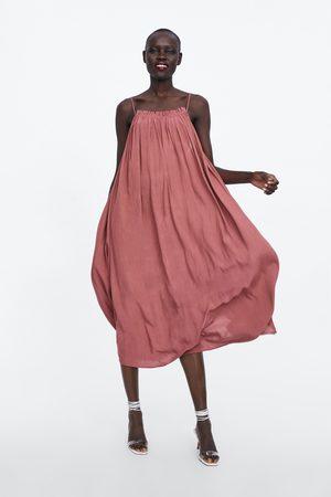 Zara Długa sukienka w stylu bieliźnianym