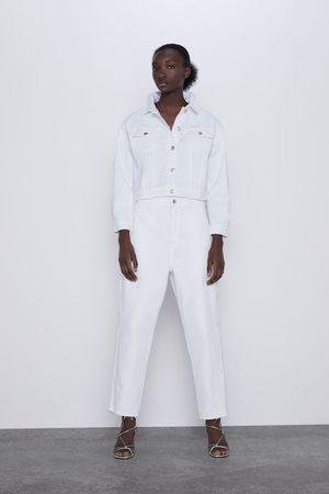 Zara Kurtka jeansowa o krótszym kroju