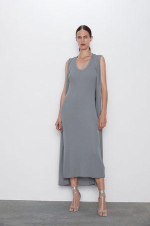 Zara Sukienka z dzianiny strukturalnej