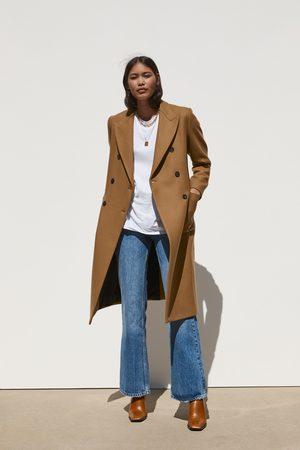 Zara Kobieta Płaszcze - Długi płaszcz z kieszeniami