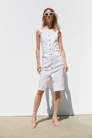 Zara Sukienka jeansowa na ramiączkach