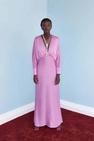 Zara Sukienka z tkaniny satynowanej