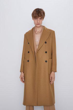Zara Długi płaszcz z kieszeniami