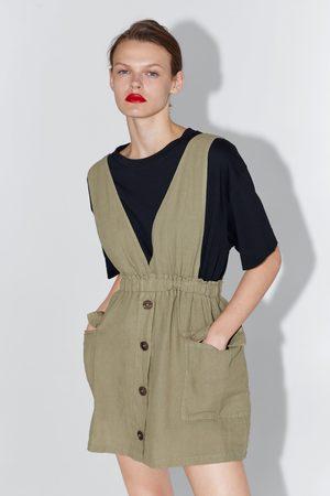 Zara Sukienka ogrodniczka z kieszeniami