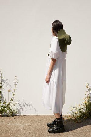 Zara Asymetryczna sukienka z popeliny