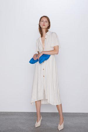 Zara Kobieta Sukienki z nadrukiem - Sukienka w stylu rustykalnym w paski