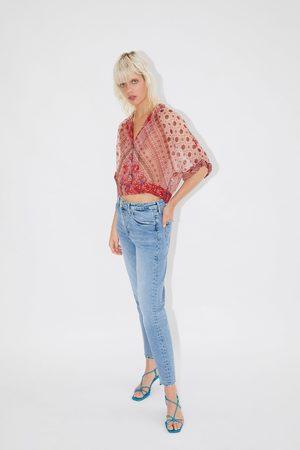 Zara Koszula o krótszym kroju z nadrukiem