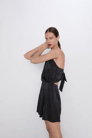 Zara Kombinezon z tkaniny satynowanej w kropki