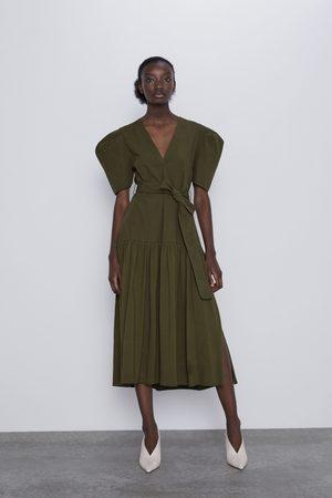 Zara Sukienka z szerokimi rękawami