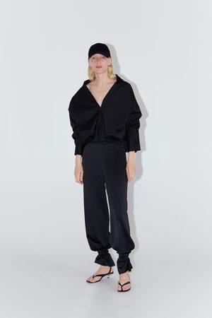 Zara Koszula z wiązaniem z przodu
