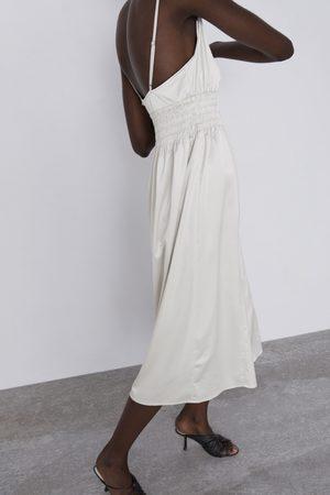 Zara Sukienka z gumką w pasie