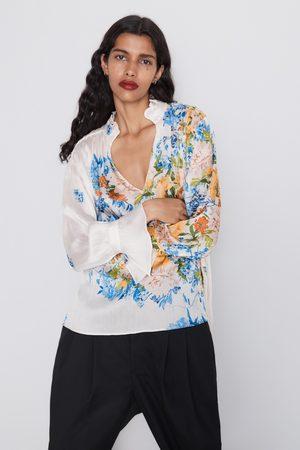 Zara Bluzka z nadrukiem w kwiaty