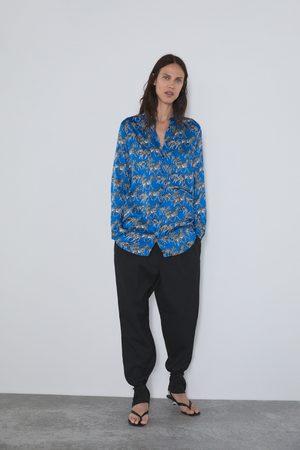 Zara Koszula z nadrukiem w zebry