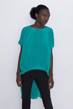 Zara Długa asymetryczna bluzka
