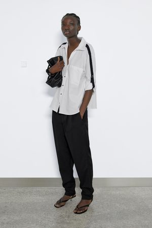 Zara Koszula z kontrastowymi lampasami