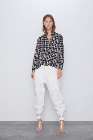 Zara Koszula z nadrukiem w łańcuchy