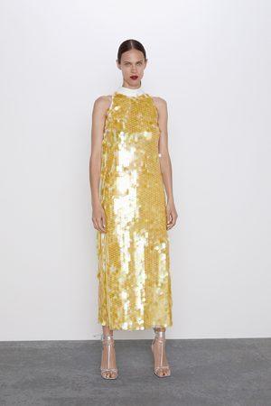 Zara Sukienka z cekinami z limitowanej edycji