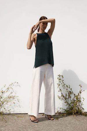 Zara Dzianinowy top z dekoltem halter