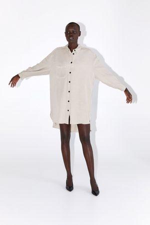 Zara Długa koszula z guzikami