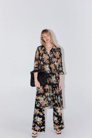Zara Koszula z nadrukiem w kwiaty