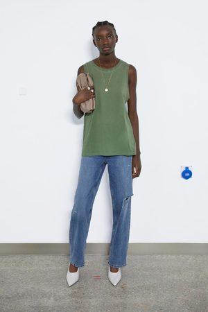 Zara Koszulka bez rękawów z kolekcji basic