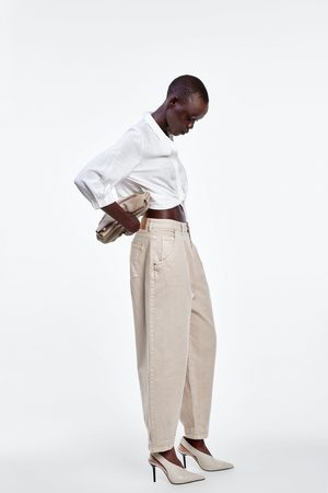 Zara Koszula o krótszym kroju z ozdobnym węzłem