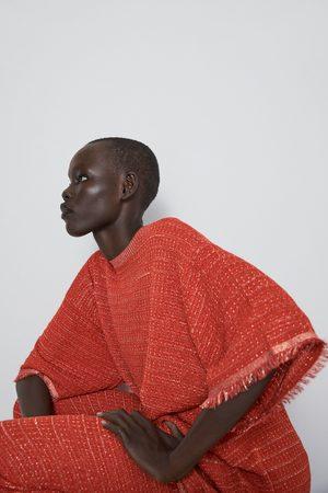 Zara Sweter z dzianiny strukturalnej z metalizowaną nicią